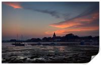 Bosham Sunset 3, Print