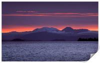 Lake Taupo Sunset, Print