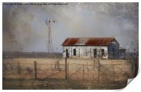 Homestead in Dust Storm, Print