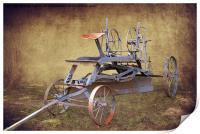 Antique Road Grader, Print