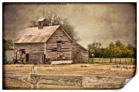 Weathered Barn, Print