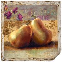 Two Pears Still Life, Print