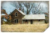 Old Abandoned Farm House, Print