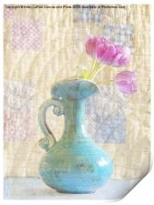 Tulips and Grandmothers Quilt, Print
