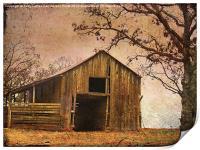 Vintage Wood Barn, Print