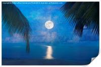 Tropical Moonglow, Print