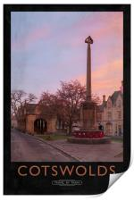 cotswolds Railway Poster, Print
