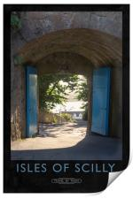 Isles of Scilly Railway Poster, Print
