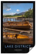 Lake District Railway Poster, Print