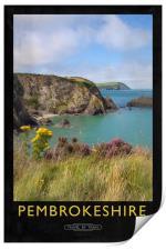 Pembrokeshire Railway Poster, Print