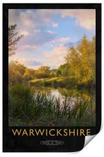 Warwickshire Railway Poster, Print