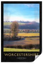 Worcestershire Railway Poster, Print