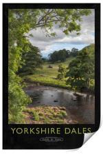Yorkshire Dales Railway Poster, Print