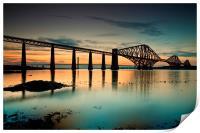 Forth Rail bridge sunset, Print