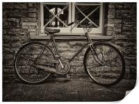 The Old Vintage Bicycle, Print