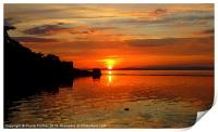 Arty Clevedon Sunset, Print
