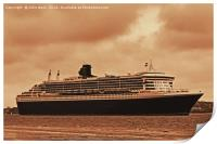 Queen Mary 2, Print