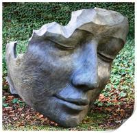 Face sculpture, Print