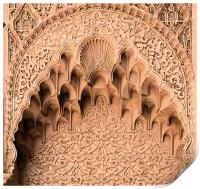 Stone carved arch, Print
