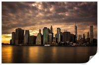 Manhattan Sunset, Print