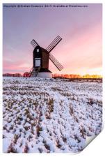 Pitstone Windmill Sunset, Print