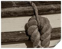 Rope on boat, Print