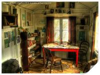 The Writing Shed, Dylan Thomas, Print