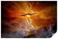 """""""Fire in the Sky"""", Print"""