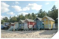 Wells Beach Huts, Print