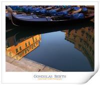 Gondolas Berth, Print