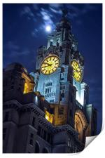 Top of the tower at Liverpool, Print