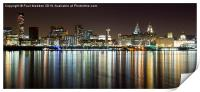 Liverpool skyline in the night, Print