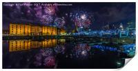 Albert Dock Fireworks, Print