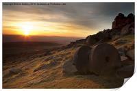 Stanage Edge Sunset, Print