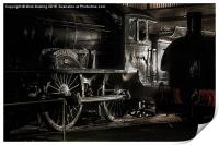 The last classD49, Morayshire, in the roundhouse , Print