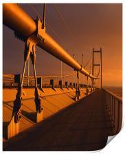Humber Bridge Sunset, Print