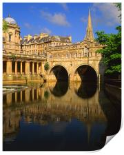 Pulteney Bridge & River Avon in Bath, Print