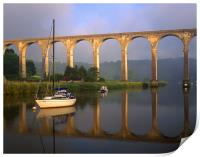 Calstock Viaduct & River Tamar, Print