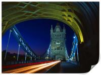 Tower Bridge London at Night, Print
