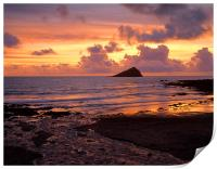 Wembury Bay Sunset, Print