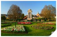Vivary Park Gardens & Cenotaph, Print