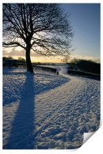 Footpath Through The Snow, Print