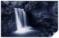 Peak District Waterfall, Print