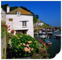 Old Watch House & Polperro Harbour, Print