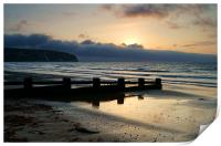 Sunrise over Swanage Bay, Dorset, Print