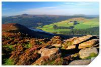 View Across Ladybower Reservoir, Print