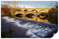 Norfolk Bridge and Burton Weir, Print