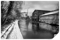 Sheffield Canal Frozen, Print