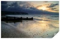Swanage Bay Sunrise, Print