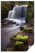 Rivelin Falls in Winter, Print